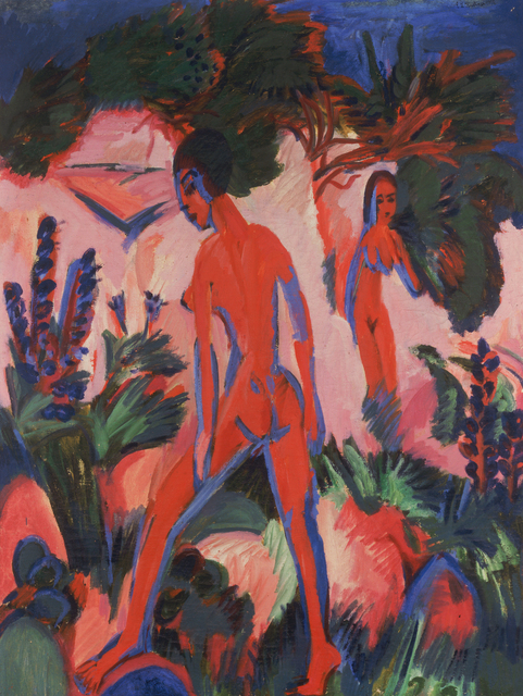 , 'RED NUDES,' 1912, Leopold Museum