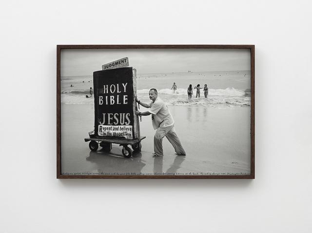 Ed Templeton, 'Man pushes bible cart HB, 2013', 2019, Nils Stærk