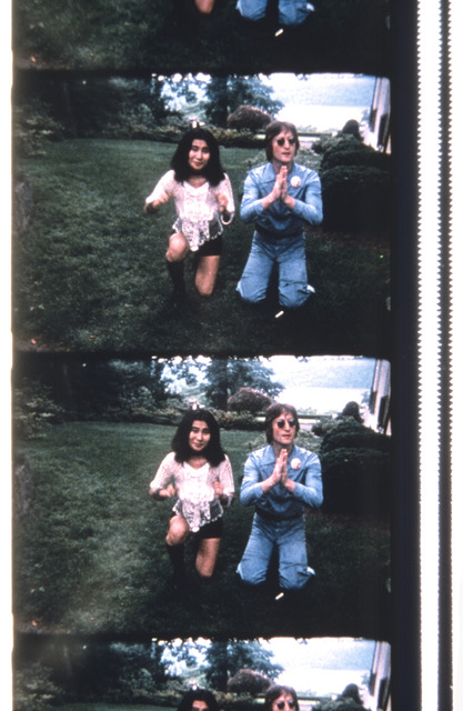 , 'John & Yoko Posing for a Polaroid to be delivered to George Maciunas,' 2013, Deborah Colton Gallery