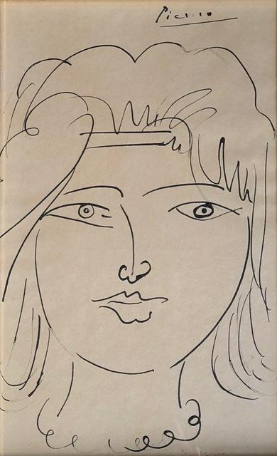 Pablo Picasso, 'Tete de Jeune Femme', 1950, Alan Kluckow Fine Art