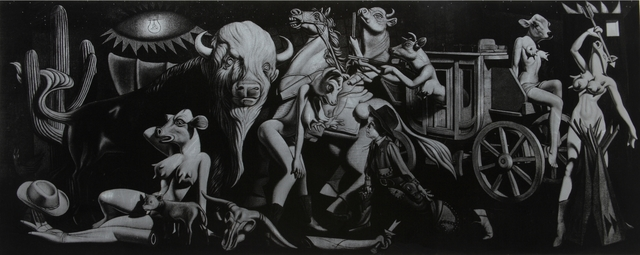 , 'Cowgirl Guernica,' 2010, Galerie Matthew Namour