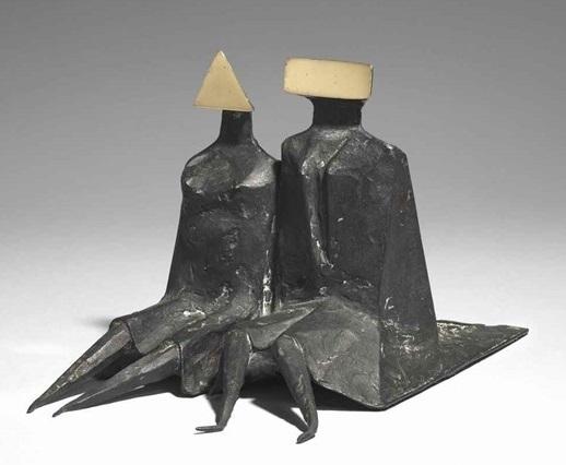 , 'Sitting Couple in Robes II,' 1980, Osborne Samuel