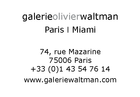 Galerie Olivier Waltman | Waltman Ortega Fine Art