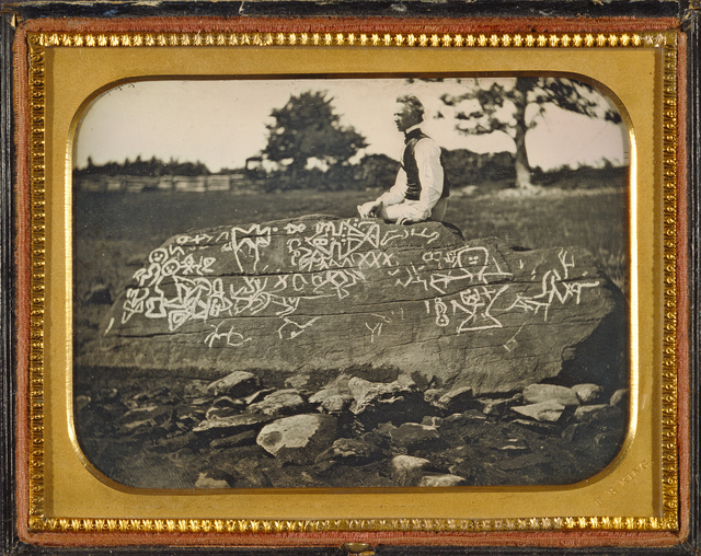 , 'Seth Eastman at Dighton Rock,' July 7th-1853, J. Paul Getty Museum