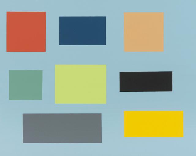 , 'Small Survey (blue ground),' 2014, Rick Wester Fine Art