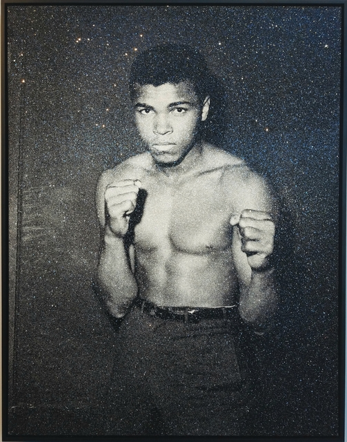 Russell Young, 'Ali', Mixed Media, Hand Pulled Screenprint on Linen w/ Diamond Dust, ZK Gallery