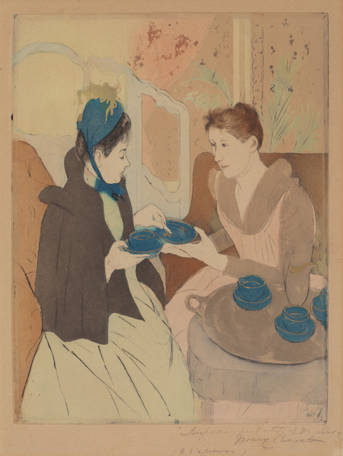 Mary Cassatt, 'Afternoon Tea Party', 1890/1891, National Gallery of Art, Washington, D.C.