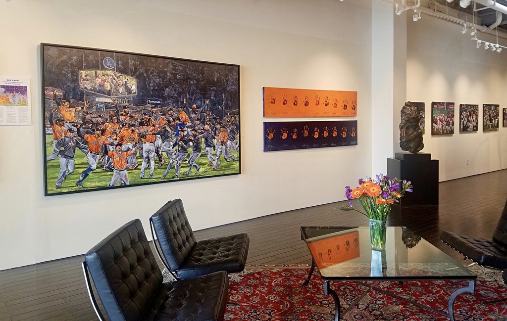 Astros art celebration with mlb artist opie otterstad off the wall gallery artsy