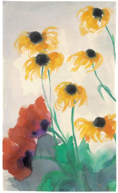 , 'Poppy and coneflower,' 1930, Galerie Kovacek
