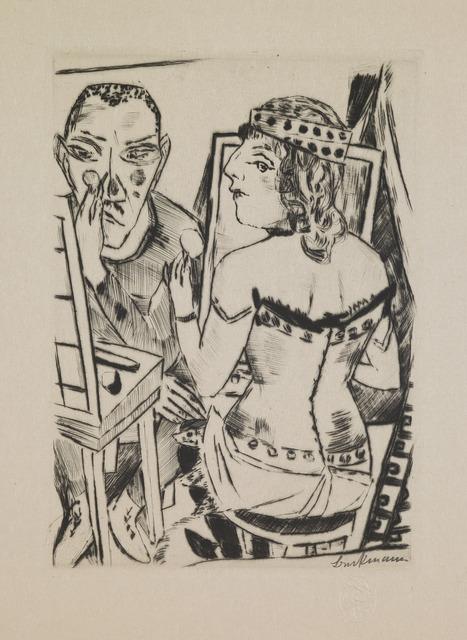 """Max Beckmann, 'Dressing Room, plate 2 from the portfolio """"Annual Fair""""', 1921, Saint Louis Art Museum"""