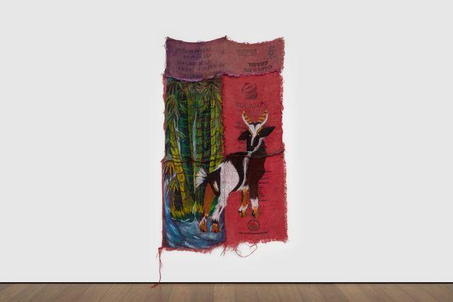 Quiara Torres, 'Buena Suerte', 2020, Mixed Media, Oil, Dye on burlap, Almine Rech