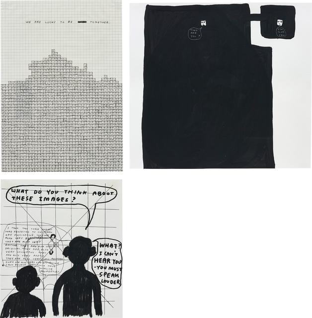 David Shrigley, 'Three works: (i-iii) Untitled', (i) 2000, (ii) 1996, (iii) 1998., Phillips