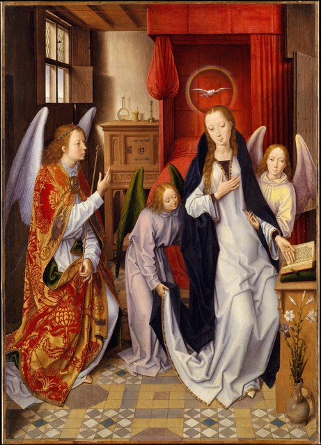 Hans Memling, 'The Annunciation', 1480–1489, The Metropolitan Museum of Art