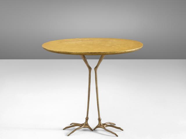 Méret Oppenheim, 'Méret Oppenheim Early 'Traccia' Coffee Table', 1970s, Design/Decorative Art, Bronze, gold leaf and wood,, MORENTZ