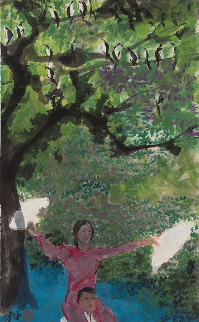, '枝头鹊,肩上人 Magpie on the branch, woman on the shoulders,' 2016-2017, Aye Gallery