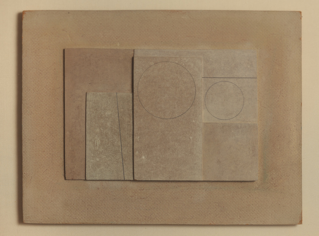 Ben Nicholson, 'March 1955 (Two circles, two lines)', 1955, DICKINSON