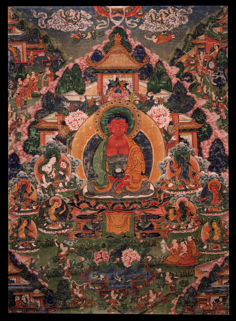 , 'Buddha Amitabha in His Pure Land of Sukhavati,' 18th century, Rubin Museum of Art
