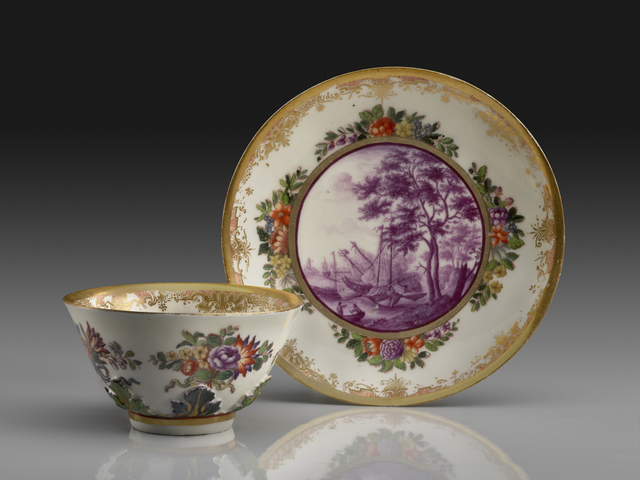 Meissen Porcelain Factory, 'Saucer and Tea Bowl', The Frick Collection
