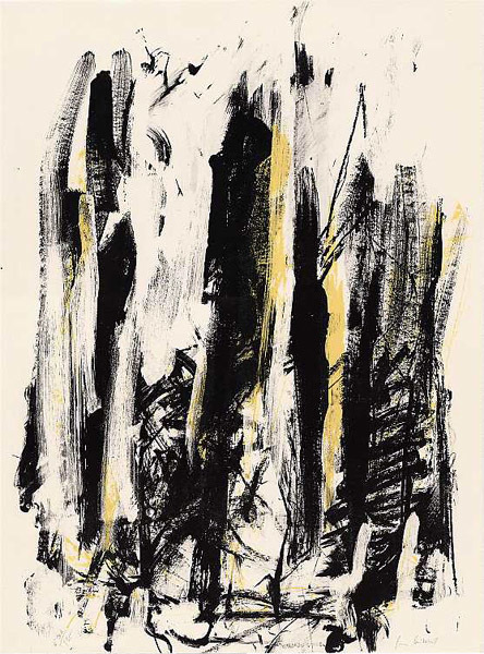 , 'Arbres (Black and Yellow),' 1991-1992, F.L. Braswell Fine Art