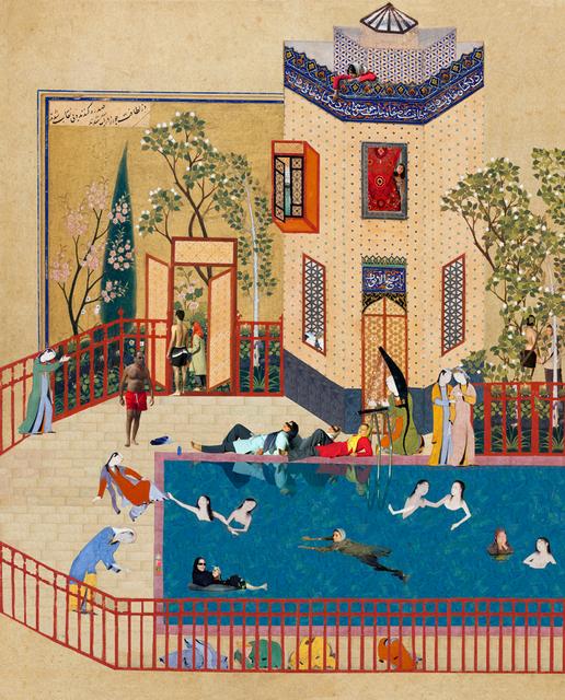 Soody Sharifi, 'Frolicking Women in the Pool', 2007, Deborah Colton Gallery