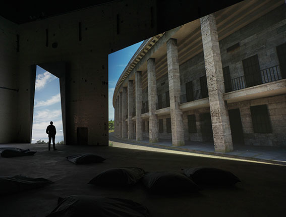 , 'Olympia (The Real-Time Disintegration into Ruins of the Berlin Olympic Stadium over the Course of a Thousand Years),' 2016, KINDL Centre for Contemporary Art