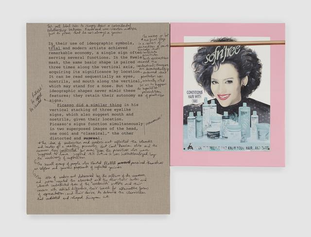 Meleko Mokgosi, 'Objects of Desire, Addendum 6', 2019, Painting, Two Panels: Inkjet and permanent marker, oil and photo transfer on canvas, Stevenson