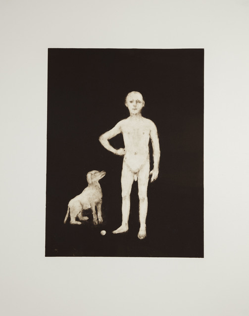 , 'Boy With a Dog,' 2016, Flowers