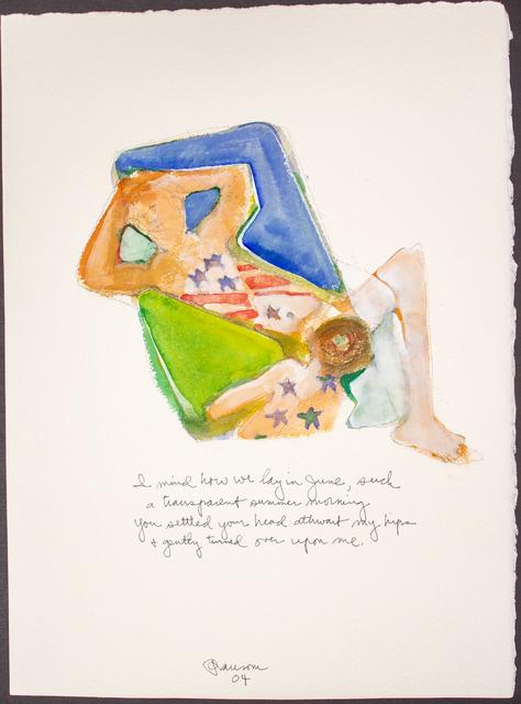 , 'I mind how we lay...,' 2004, BlackBook Presents