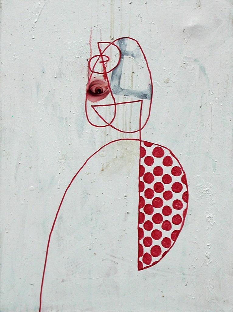 Ed Valentine, 'Marker Portrait with Red Eye,' 1997, envoy enterprises