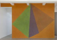Sol LeWitt, Wall Drawing #459, Asymmetrical Pyramid with Color ink washes superimposed
