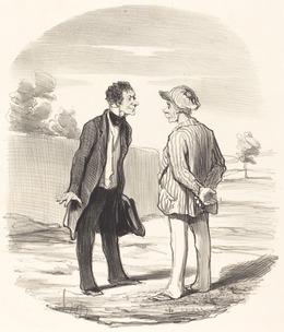 Honoré Daumier, 'Oui, monsieur Gimblet, l'ordre ne sera... rétabli...', 1851, National Gallery of Art, Washington, D.C.