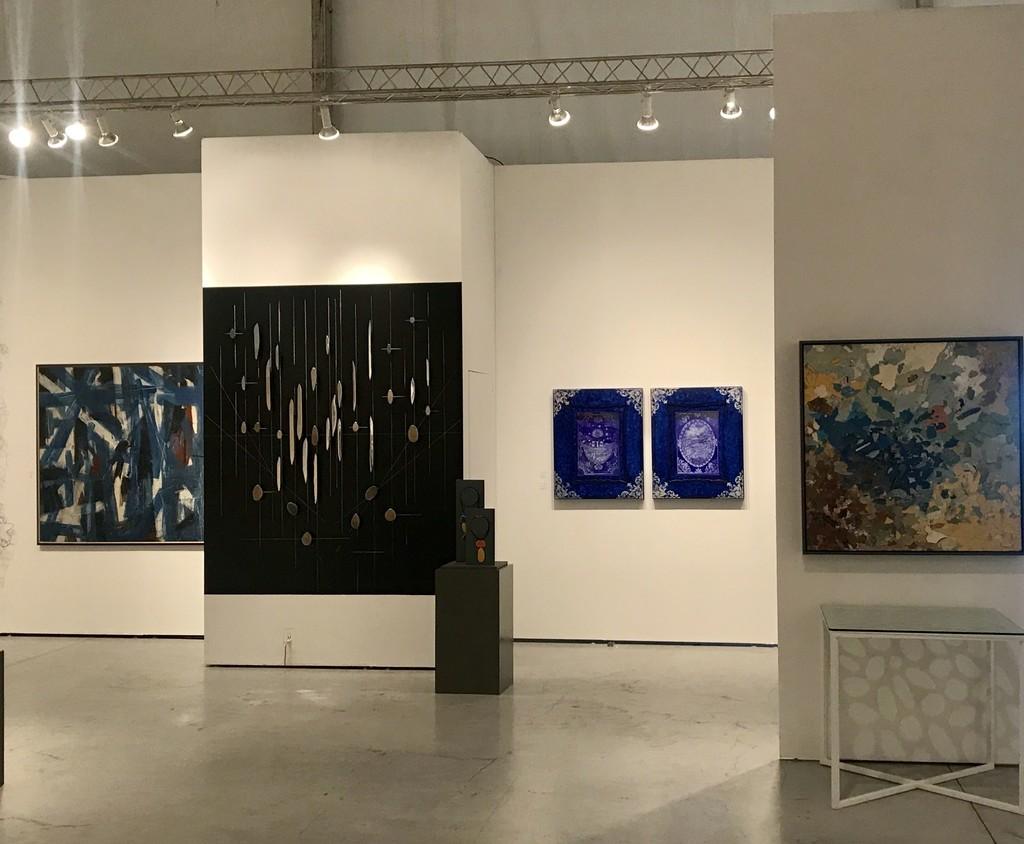 Booth View: Guido Llinas, Carolina Sardi, Edouard Duval-Carrie, Diana Fonseca