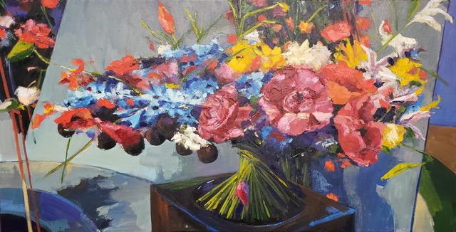 Jenn Hallgren, 'Flower Show #7', 2019, Painting, Oil on canvas, InLiquid
