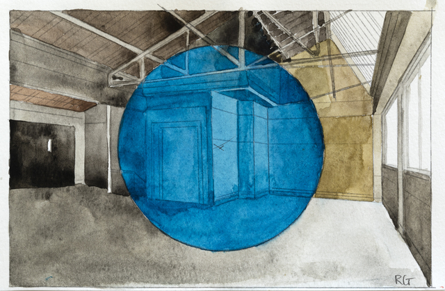 "Georges Rousse, '""Montrouge""', 2018, Galerie Catherine Putman"