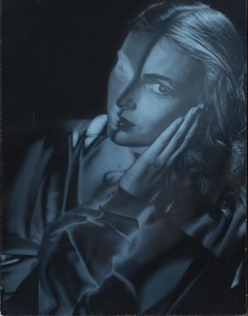 , 'Model with Face on Hands, New York,' ca. 1946, Osborne Samuel