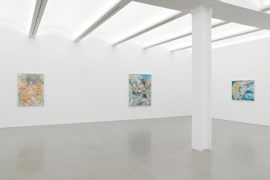 View of the exhibition «UNIO MYSTICA» by Aya Takano at Perrotin New York.  Courtesy ©️2019 Aya Takano/Kaikai Kiki Co., Ltd. All Rights Reserved. Courtesy Perrotin. Photo (c) Guillaume Ziccarelli.