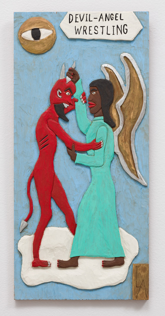 , 'Devil-Angel Wrestling  ,' 1991, The Good Luck Gallery