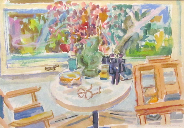 , 'Round Table and Easel,' 1989, Reynolds Gallery