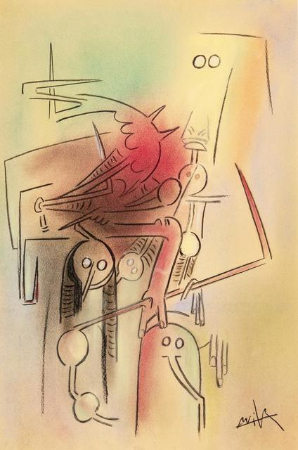 Wifredo Lam, 'Totem', 1971, Drawing, Collage or other Work on Paper, Pastel on cardboard, Itineris