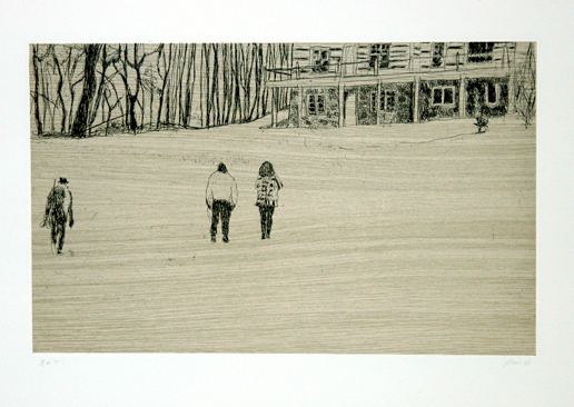 Peter Doig, 'From 'Pond Life' from Ten Etchings', 1996, Print, Hardground on woodgrain chine colle, Galerie Maximillian