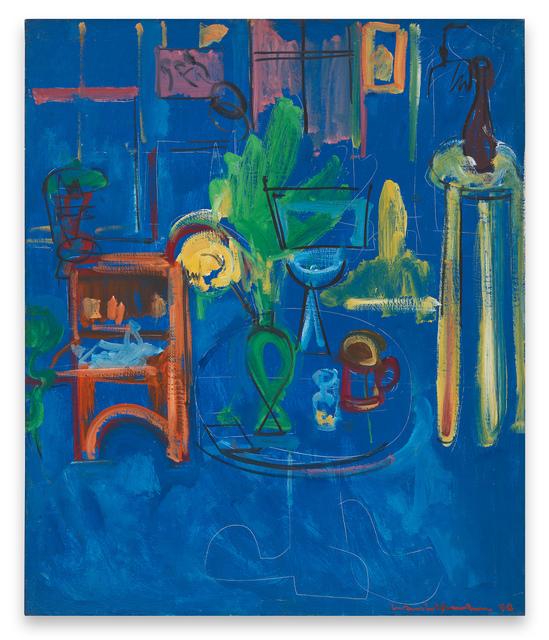 , 'Green Vase on Blue,' 1940, Miles McEnery Gallery
