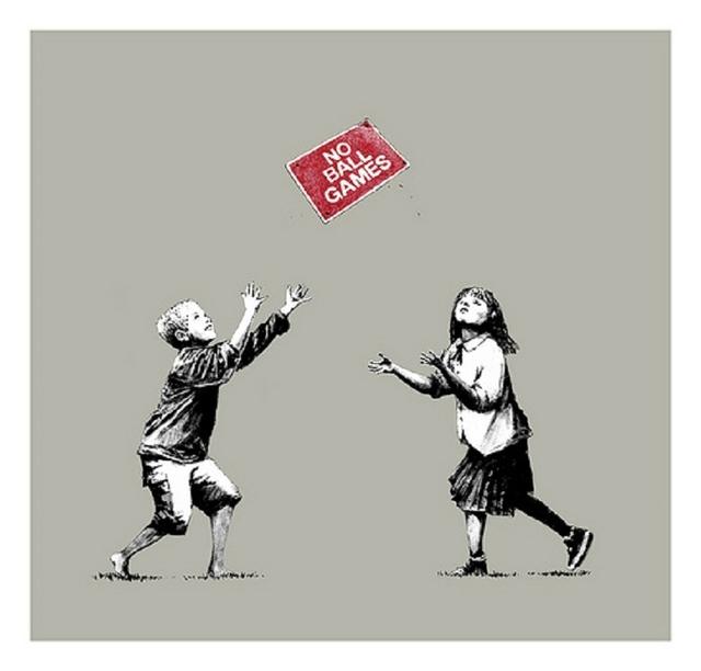 Banksy, 'No Ball Games', 2009, Taglialatella Galleries