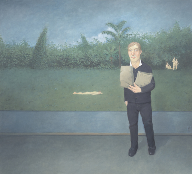, 'Interior com Libertinos em um Jardim [Interior with Libertines in a Garden],' 2015, Zipper Galeria