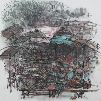 , ' Street Stalls,' , Ode to Art