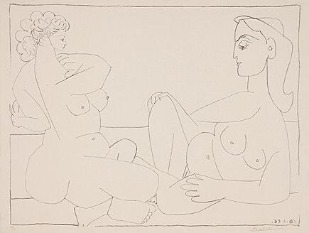 Pablo Picasso, 'Deux femmes sur la plage', 1956, Galerie Boisseree