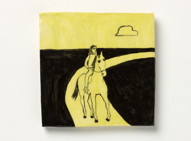 , 'Horse + rider on road,' 2016, Niagara Galleries