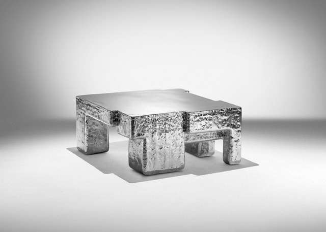 , 'Metal Fossil Nickel Coffee Table ,' 2017, ammann//gallery