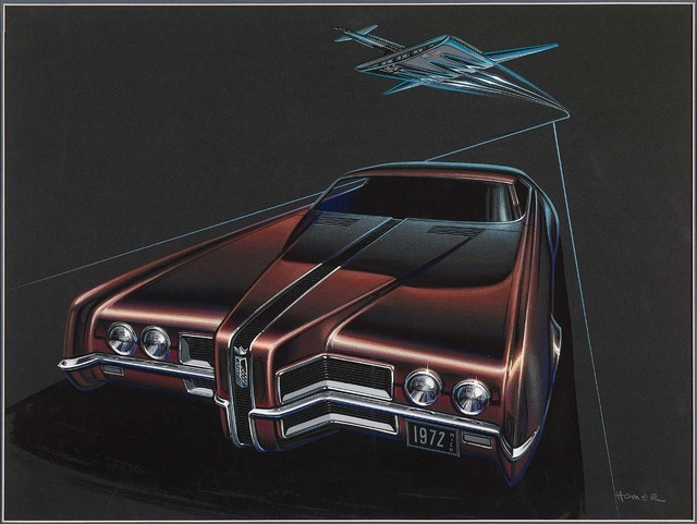 , 'Long Nose Ford Thunderbird Proposal,' 1970, Norton Museum of Art