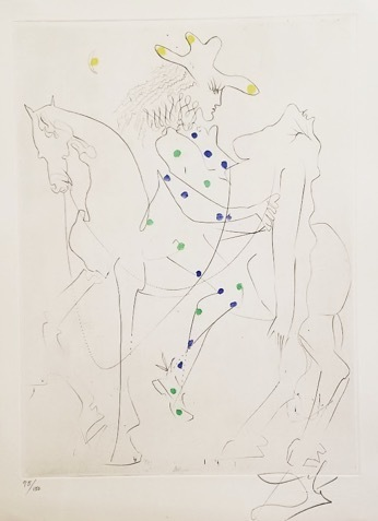 , 'Picasso's Horse (Ronsard Suite),' 10834, Galerie d'Orsay