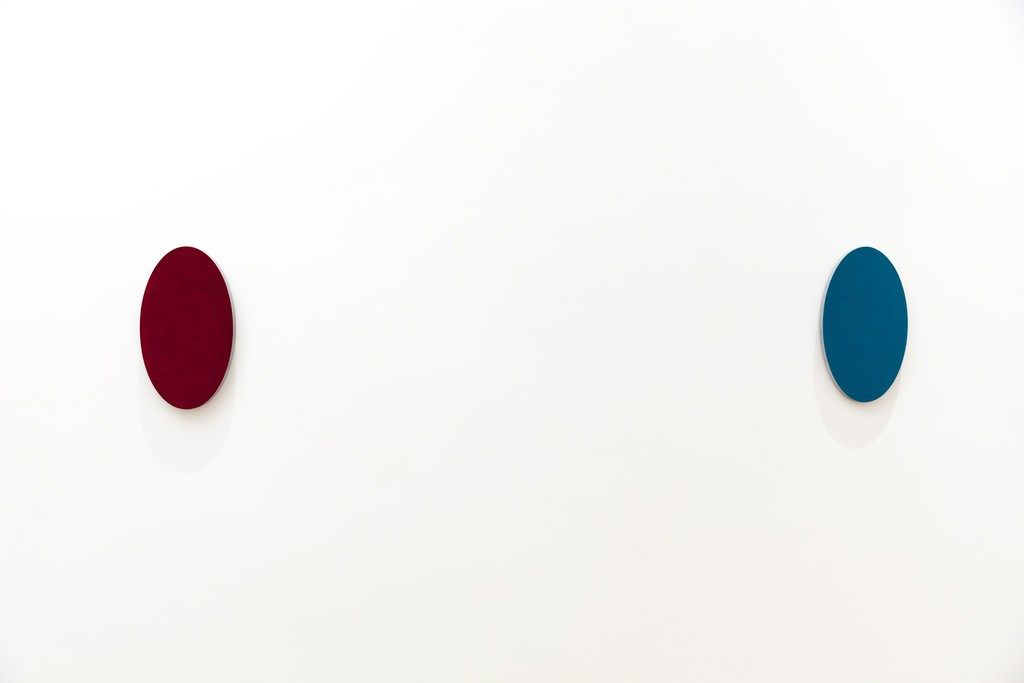 """Alfonso Fratteggiani Bianchi, """"Untitled"""", 2016, pigment on pietra serena, 32x18cm each"""